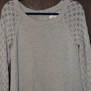 Women's Backside button up Loft sweater